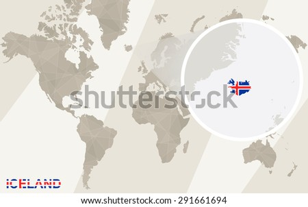 Zoom on iceland map flag world stock vector 291661694 shutterstock zoom on iceland map and flag world map gumiabroncs Gallery