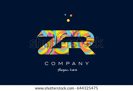 zr z r alphabet letter logo colors colorful rainbow acrylic font creative  text dots company vector icon. Rainbow Letter R Stock Images  Royalty Free Images   Vectors
