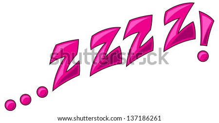 Zzzz - Comic Expression Vector Text - stock vector